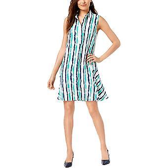 الفاني | فستان قميص مطبوع بدون أكمام