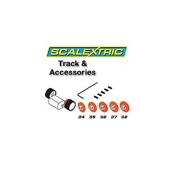 Scalextric accessori - Pack di 5 ingranaggi di dente cilindrico Asst