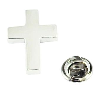 Ties Planet Rhodium Plated Christian Cross Lapel Pin Badge
