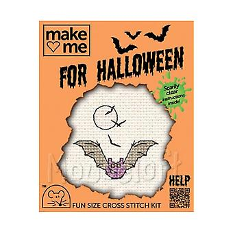 Bat - Make Me for Halloween Small Counted Cross Stitch Kit