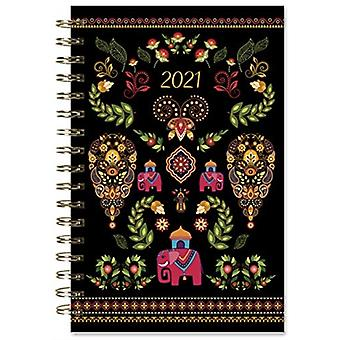 2021 Designer Elephant 17Month Weekly Planner by Inc Sellers Publishing