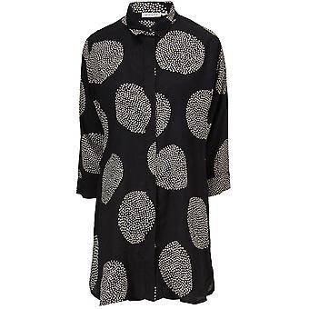 Masai Clothing Indira Black Spot Print Blouse