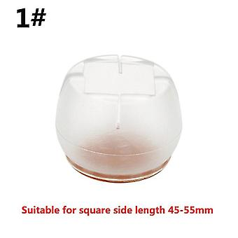 Silicone Table Foot Cushion Thickened Transparent Non-slip Table Chair End Leg Wear-resistant