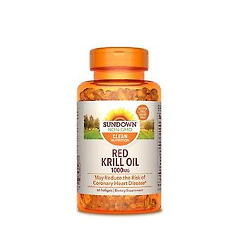 Sundown Naturals Triple Strength Red Krill Oil, 1000 mg, 12 X 60 Softgels