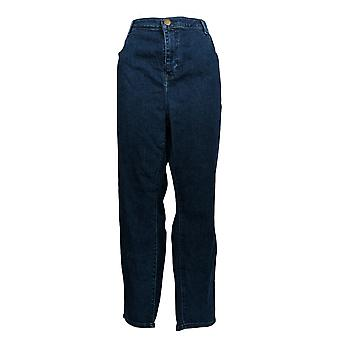 BROOKE SHIELDS Timeless Women's Plus Jeans Ankle Length Blue A351366