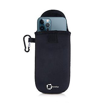 InventCase Neoprene Pussikotelon kansi kotelon kanssa kotelo apple iPhone 12 Pro / 12 Pro Max - Musta