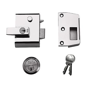 Yale YALP2DMGPB P2 Double Security Nightlatch DMG/PB Finish 40mm Backset Visi