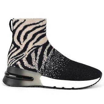 Ash Koni În Mohair Animalier Zebra Sneaker
