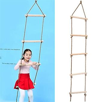 5 Wooden Rungs Pe Rope Ladder, Climbing Toy, Kids Sport Rope