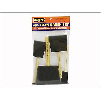 Rustins Foam Brushes x 4 (1-2-3-4in)