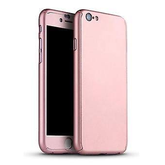 Stuff Certified® iPhone 12 Pro 360 ° Full Cover - Full Body Case Case + Screen protector Pink