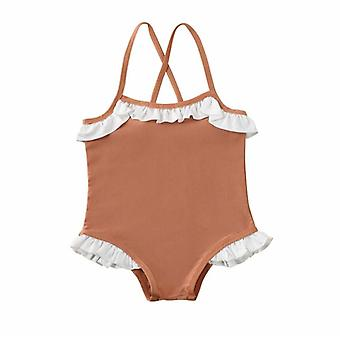 Toddler Baby Cross Sling Swimsuit Ruffled Bikini Swimwear