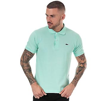 Lacoste men's turquoise polo shirt