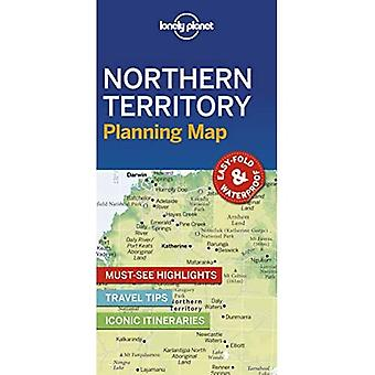 Lonely Planet Northern Territory Planning Map (Kaart)