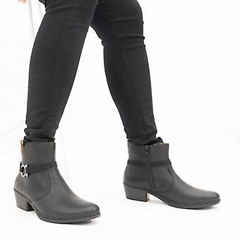 ريكر 75563-00 السيدات أحذية الكاحل الأسود