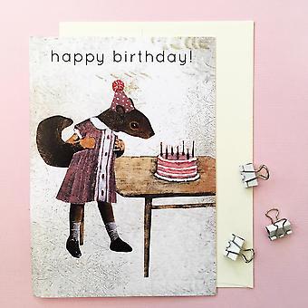 Happy Birthday Eekhoorn Card verjaardagskaart
