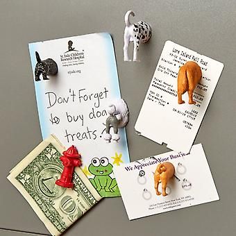 Kikkerland set of 6 dog butt magnets