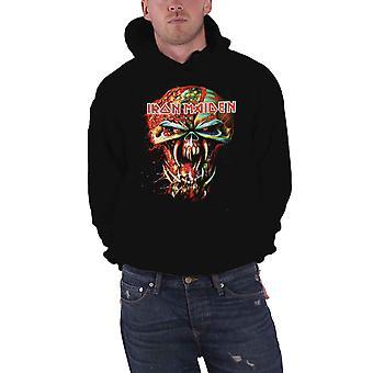 Iron Maiden hombres sudadera con capucha negro Pullover Final Frontier Eddie Big Head Oficial