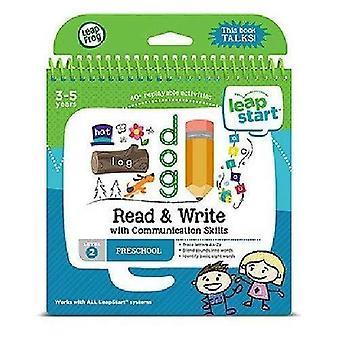 Leapfrog 21508 leapstart pré-escola ler e escrever e livro de atividades de habilidades de comunicação