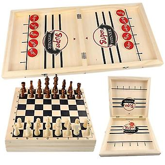 Foldable Wooden Chess Board Set, Travel Entertainment Game  (h01)
