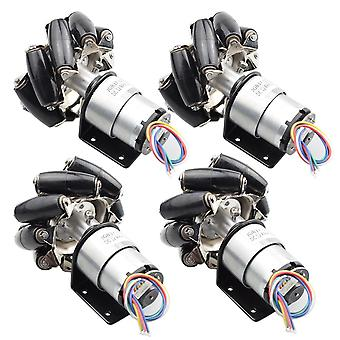 25kg Big Load 4pcs 78mm Mecanum Wheel+ 4pcs 12v 178rpm Motor With Speed Encoder