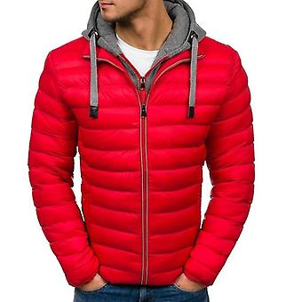 Waterproof Winter Parkas Men Hooded Zipper Jacket Mens Warm Duck Coat Male