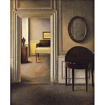 Musiikin huone 30 Strandgade Juliste Tulosta, jonka Vilhelm Hammershoi