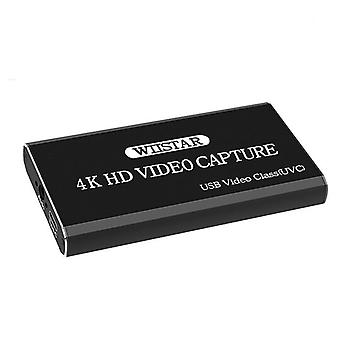 Usb Video Capture Card, Hdmi To Type C Usb Video Grabber For Ps4 Tv Camera