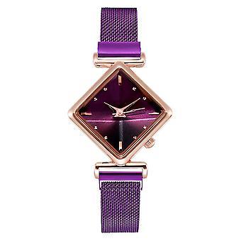 Luxus kreative einfache Quarzuhr Frauen's Kleid Stahl Mesh neue Uhr Armband