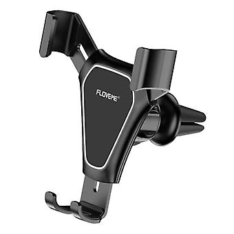 FLOVEME Universal Phone Holder Car with Air Vent Clip - Dashboard Smartphone Holder Black