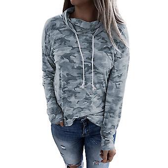Casual Camo Drawstring Sweatshirt