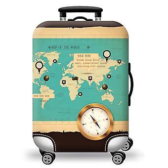 Couverture élastique de bagage imprimé de carte du monde
