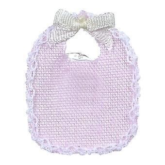 Nuevas muñecas casa Falcon miniatura guardería bebé accesorio 2 baberos rosa