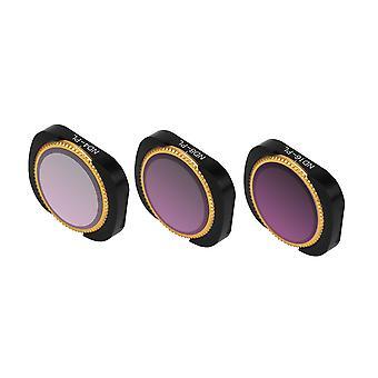 Adjustable Filter Optical Glass Camera Lens Filter ND-PL ND4-PL+ND8-PL+ND16-PL Set  Black