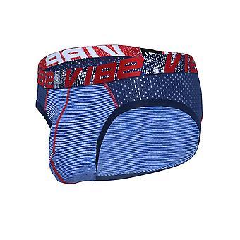 Andrew Christian Vibe Stripe Sports Mesh Brief | Men's Underwear | Men's Slip