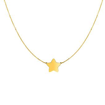 "14 k Yellow Gold Star charmia kaulakoru, 18 """