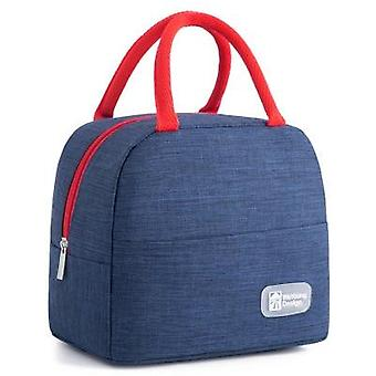 Functional Pattern Cooler Lunch Box Portable Insulated Canvas Lunch Bag Thermal