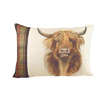 Evans Lichfield Hunter Highland Cow Cushion Cover