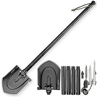 Kit multifon function Folding Military Spade Shovel Hoe Outdoor Garden Tools Kit