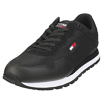 Tommy Jeans Lifestyle Mix Runner Mens Casual Trainers in Black