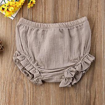 spedbarn baby ruffles shorts, bomull bleie bleie dekker søte truser