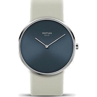 VOTUM - Reloj de señoras - CIRCLE - Puro - V01.10.30.05 - correa de cuero - crema blanca