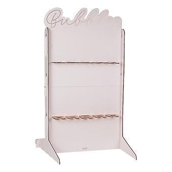 Rose Gold & Blush Rosa Prosecco Drinker Wall Stand
