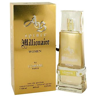 Spirit Millionaire Eau De Parfum Spray By Lomani 3.3 oz Eau De Parfum Spray
