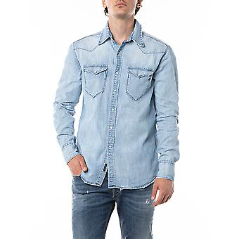 Replay Men's Denim Shirt Regular Fit