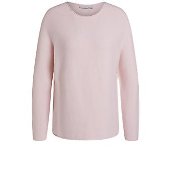 Oui Pink Fine Ribbed Knit Jumper