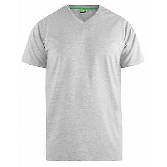 DUKE Duke hombres de gran tamaño plain signature V cuello camiseta