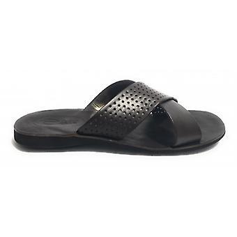 Men's Shoes Elite Slipper Leather Bands T.moro Fondo Battistrada Us17el17
