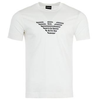 Emporio Armani Embroidered Eagle T-Shirt - White