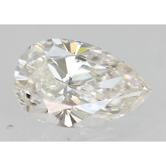 Sertifioitu 0,36 karat F VVS1 päärynä enhanced natural loose diamond 6.14x3.95mm 2VG